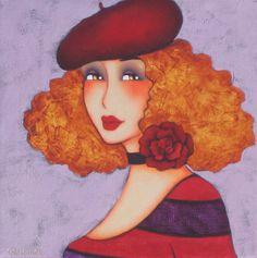 Résultat d'images pour Corinne Reignier Louis Jover, Illustrations, Illustration Art, Canvas Art Projects, Art Corner, Art For Art Sake, Whimsical Art, Portrait Art, Face Art