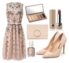 """""""Simple Beauty"""" by redruby-418 ❤ liked on Polyvore featuring Valentino, Topshop, Marc Jacobs, Urban Decay, Rupert Sanderson and Essie"""