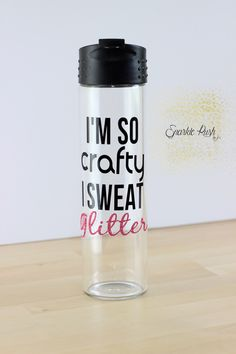 DECAL Sore Today Strong Tomorrow Timer Water Bottle Decal Vinyl - Vinyl stickers for glass bottles