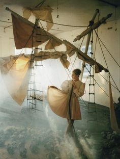 """""""A Play of White,"""" Caroline Trentini by Tim Walker for Vogue Italia"""