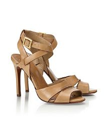 """The Tory Burch """"Vanetta"""" sandal will be in my Spring 2013 fashion kitty! The PERFECT nude."""