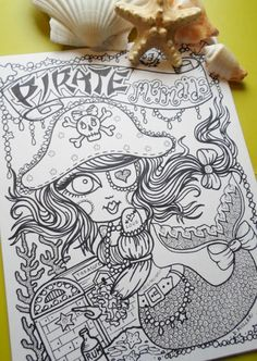 Naughty Pirate Mermaids Coloring Book For You to Color SaSSy and Unique Pirate Girls