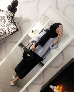ideas for style hijab outfit skirts – Hijab Fashion 2020 Hijab Casual, Hijab Chic, Hijab Outfit, Muslim Fashion, Modest Fashion, Hijab Fashion, Fashion Outfits, Modest Wear, Modest Dresses