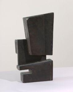 'Rectangular Bronze Forms No. 4' (1955) by British sculptor & printmaker Robert Adams (1917-1984). Bronze, 30.5 cm high. via British Council