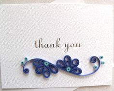 handmade paper quilled thank you card by sayitwithblooms on Etsy