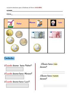 Problemas con euros by nomenterodelapataca via slideshare Money Activities, Montessori Activities, I Love Math, Teaching French, Mathematics, Euro, School, Ideas, Educational Activities