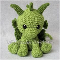 Ravelry: Philip the Dragon pattern by The Left-Handed Crocheter