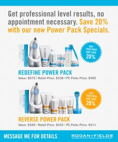 Clinically proven products created by Doctors Rodan+Fields. Creators of Proactiv! Contact me for details: www.SheriBrown.MyRandF.com  sheribda1@yahoo.com