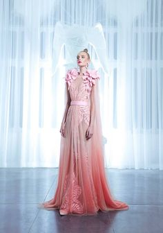 Nicolas Jebran-Spring-Summer 2015 Collection...Wow, love the details & silhouette.Imagine this in bridal tones & embellishments that fit your wedding theme.Get the designer look without the designer $$$, have it custom-made.