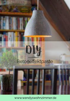 DIY Betonlampe mit Effektpaste selber machen. Meine Erfahrung mit der Viva Decor Betoneffektpaste. Vor-/Nachteile Anleitung. DIY Anleitung Dekoration, Lampe auf Deutsch