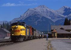 VIA train 1, the Canadian, at Banff