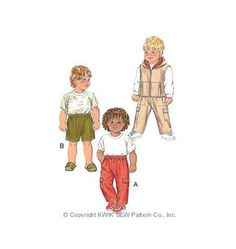 K2858 | Pants, Shorts & Vest | Toddlers' | Kwik Sew Patterns