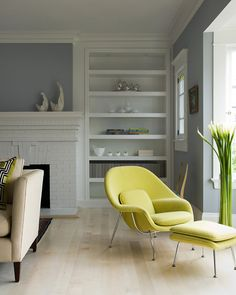 White, gray, then lime / bright color accents