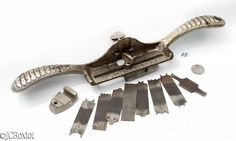 nice shape complete? STANLEY 66 HAND BEADER PLANE shave tool cutters ~ jcboxlot