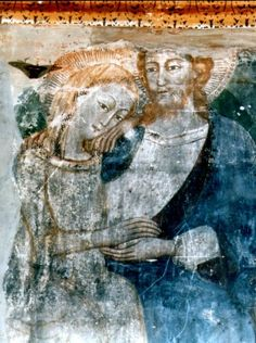 Cristo e Maria, Cristo sposo e la Chiesa sposa, coro del Monastero di Santa Maria di Monteluce, Perugia: particolare.