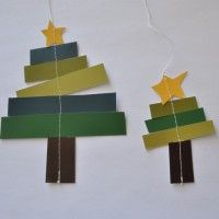 Christmas craft for the kids -- this could be really mod and striking en masse