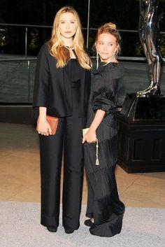 Elizabeth Olsen & Mary Kate Olsen at the @CFDA Awards