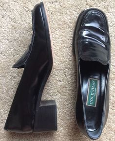 COLE HAAN Women's Black Career Leather Heel Shoes Size 7 AA  | eBay
