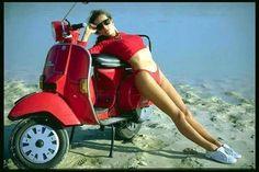 A few random ladies and their scooters. - All things Lambretta & Vespa