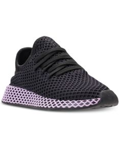 huge discount 3e74d 62304 adidas Womens Deerupt Runner Casual Sneakers from Finish Line - Black 7  Casual Sneakers, Finish