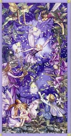 """""""The Night Fairies"""" ~ Cicely Mary Barker Flower Fairies Cicely Mary Barker, Fantasy Kunst, Fantasy Art, Inchies, Fairy Pictures, Love Fairy, Illustration, Beautiful Fairies, Flower Fairies"""