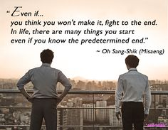 Misaeng quotes: Lee Sung Min as Oh Sang-Shik (ep19)
