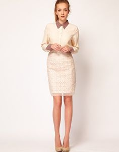 $96.75 Warehouse Organza Embroidered Skirt