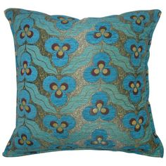 Suzanni Textile Pillow | From a unique collection of antique and modern textiles and quilts at https://www.1stdibs.com/furniture/more-furniture-collectibles/textiles-quilts/