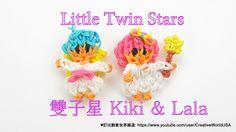 Rainbow Loom 雙子星 Little Twins Star LaLa Charms -  彩虹編織器中文教學 Rainbow Loom...