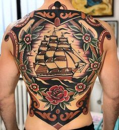 125 Best Back Tattoos For Men: Cool Ideas + Designs Guide) - Amazing Full Back Tattoo Designs For Guys – Best Back Tattoos For Men: Cool Back Tattoo Designs F - Back Piece Tattoo Men, Cool Back Tattoos, Upper Back Tattoos, Back Tattoos For Guys, Chest Piece Tattoos, Pieces Tattoo, Back Tattoo Women, Tatto Old, Old Tattoos