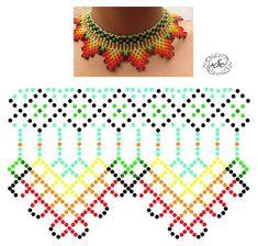Foto Natali Khovalko Diy Necklace Patterns, Beaded Jewelry Patterns, Bead Jewellery, Seed Bead Jewelry, Beading Projects, Beading Tutorials, Peyote Patterns, Beading Patterns, Bead Loom Bracelets