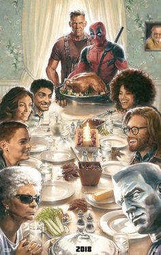 New Deadpool 2 Poster Shows Wade & Cable Giving Thanks #Marvel