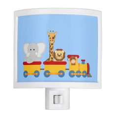 Cute cartoon kids Night Light customized background color