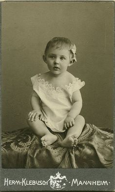 Antique Photo Album: Bow in her hair