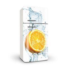 nevera con naranja, vinilos para decorar neveras