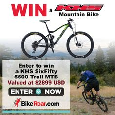 http://bike.roa.rs/ref/B2930606    Enter to win a KHS SixFifty 5500 trail MTB in BikeRoar's contest!