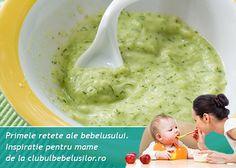 Astazi asociem fasolea verde cu dovlecelul si vom obtine o supa crema fina, dulce si foarte hranitoare. Fasolea verde se digera usor si are avantajul ca poate fi introdusa printre primele alimente solide bebelusului. Baby Dishes, Kids And Parenting, Baby Food Recipes, Guacamole, Kids Meals, Zucchini, Food And Drink, Vegan, Ethnic Recipes
