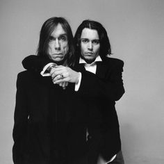 black and white photos of famous Iggy Pop and Johnny Depp