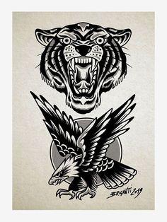Black Book by Samuele Briganti Traditional Tattoo Drawings, Traditional Black Tattoo, Traditional Tattoo Old School, Traditional Tattoo Design, Traditional Tattoo Flash Art, Traditional Tattoo Inspiration, Traditional Flash, American Traditional, Tattoos Mandala