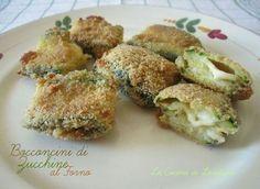I Bocconcini di Zucchine al forno sono dei deliziosi rotolini di zucchine farciti con mozzarella filante per un delizioso contorno che conquisterà tutti