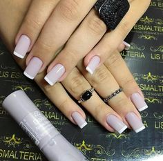 69 Trendy Nails French Acrylic Tips Glitter French Manicure, Manicure Colors, French Tip Nails, Gold Nails, Manicure And Pedicure, Nail Colors, Manicure Ideas, French Nail Designs, New Nail Designs