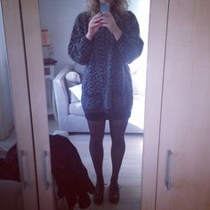 Favourite winter sweater & chunky shoes