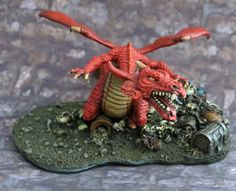 Of Tin, Lead and Pewter: Citadel D&D -BDD10 Red Dragon WIP