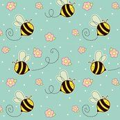 Bumbley Bees custom fabric by sugarcookie for sale on Spoonflower Happy Rock, Bee Happy, Bee Drawing, Nursery Crafts, Honey Bee Stamps, Bumble Bees, Bee Theme, Backrounds, Busy Bee