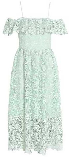 H&M Off-the-shoulder Lace Dress   #Chic Only #Glamour Always