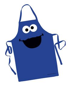 Look at this Blue Cookie Monster Big Face Apron on #zulily today!