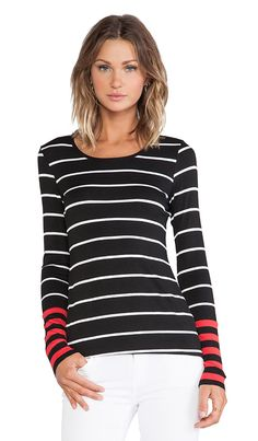 Love a good striped tee. The pop of color makes it even better