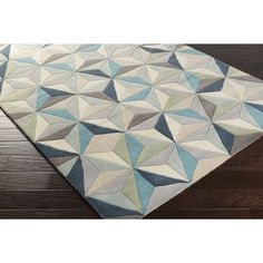 Freshen up any setting with this contemporary area rug. Hand-Tufted with wool, this geometric area rug is sure to be the update you've been searching for. Contemporary Area Rugs, Modern Rugs, Modern Coastal, Modern Decor, Modern Design, Wool Area Rugs, Wool Rug, Teal Area Rug, Hand Tufted Rugs