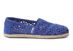 Blue Moroccan Cutout Women's Classics | TOMS  #womens #shoes