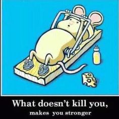 Lo que no te mata te hace fuerte!
